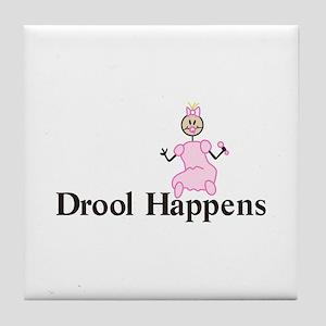 Drool Happens Tile Coaster