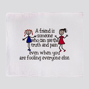 A Friend Is Throw Blanket
