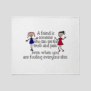 A Friend Is Throw Blanket