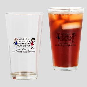 A Friend Is Drinking Glass
