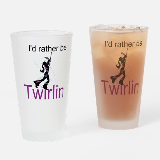 Rather Be Twirling Drinking Glass