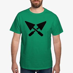 Mason crossed trowel Dark T-Shirt
