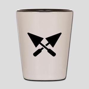 Mason crossed trowel Shot Glass