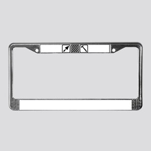 Mason brick wall tools License Plate Frame