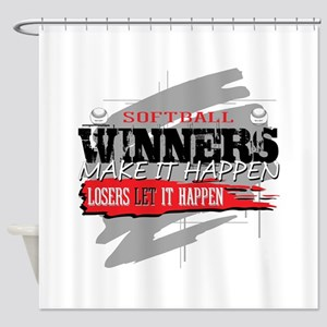 Winners and Losers Softball Shower Curtain