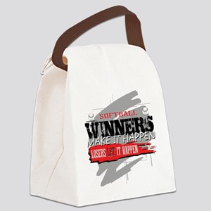 Winners and Losers Softball Canvas Lunch Bag