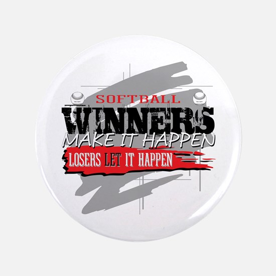 Winners and Losers Softball Button