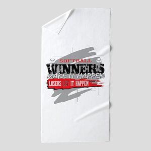 Winners and Losers Softball Beach Towel