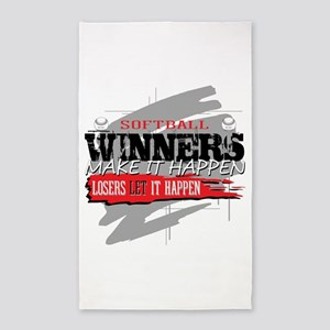 Winners and Losers Softball Area Rug