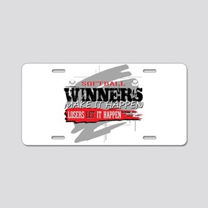 Winners and Losers Softball Aluminum License Plate