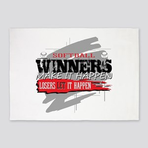 Winners and Losers Softball 5'x7'Area Rug