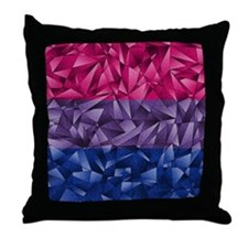 Abstract Bisexual Flag Throw Pillow