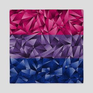 Abstract Bisexual Flag Queen Duvet