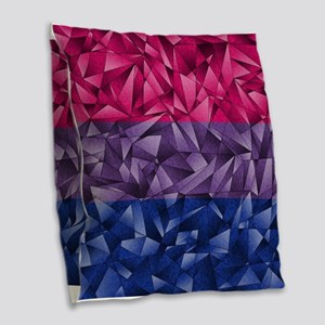 Abstract Bisexual Flag Burlap Throw Pillow