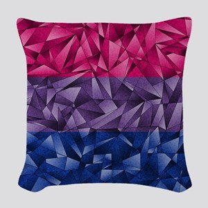 Abstract Bisexual Flag Woven Throw Pillow
