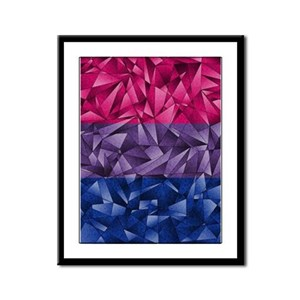Abstract Bisexual Flag Framed Panel Print