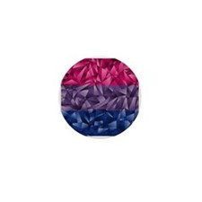 Abstract Bisexual Flag Mini Button