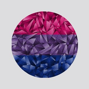 Abstract Bisexual Flag Button
