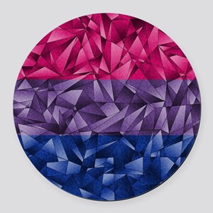 Abstract Bisexual Flag Round Car Magnet