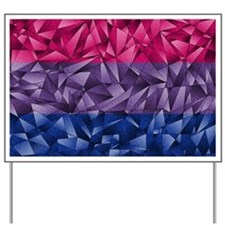 Abstract Bisexual Flag Yard Sign
