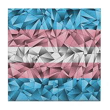 Abstract Transgender Flag Tile Coaster