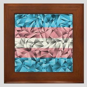 Abstract Transgender Flag Framed Tile