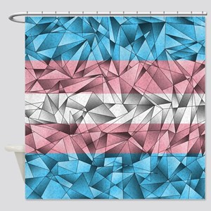 Abstract Transgender Flag Shower Curtain