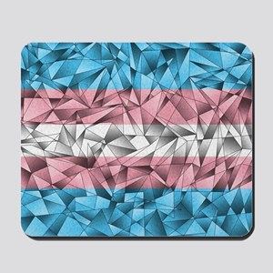 Abstract Transgender Flag Mousepad