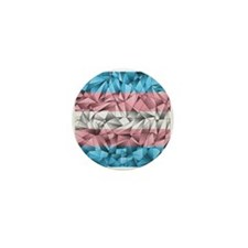 Abstract Transgender Flag Mini Button