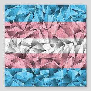 "Abstract Transgender Fla Square Car Magnet 3"" x 3"""