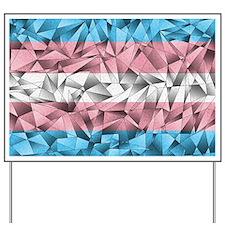 Abstract Transgender Flag Yard Sign