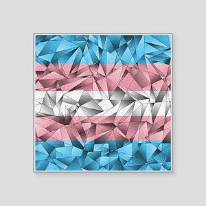 "Abstract Transgender Flag Square Sticker 3"" x 3"""