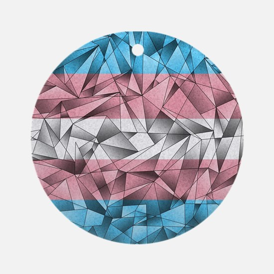 Abstract Transgender Flag Ornament (Round)
