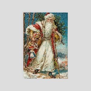 Vintage Santa Claus Low Poly 4' X 6' Rug