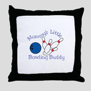 Moms Bowling Buddy Throw Pillow