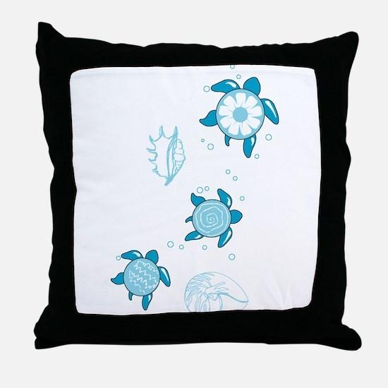 3 Turtles Throw Pillow