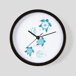 3 Turtles Wall Clock
