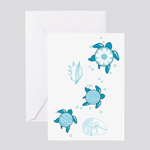 3 Turtles Greeting Card
