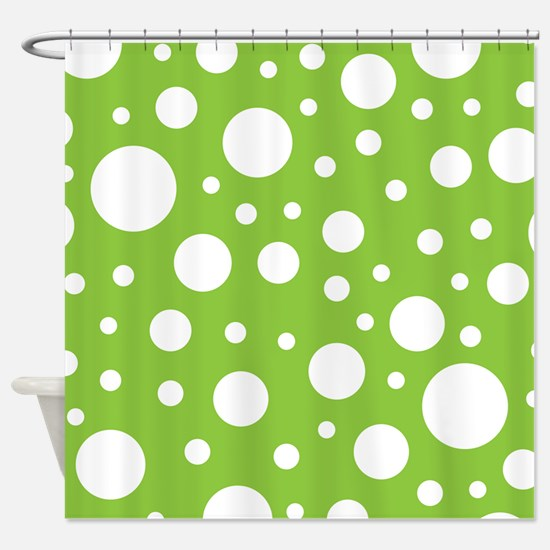 Mod Dot Spring Green Shower Curtain