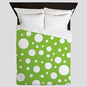 Mod Dot Spring Green Queen Duvet