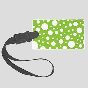 Mod Dot Spring Green Large Luggage Tag