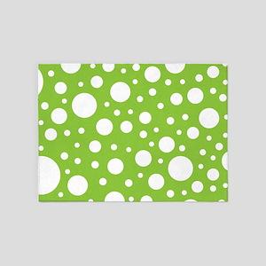 Mod Dot Spring Green 5'x7'Area Rug