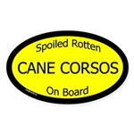 Spoiled Cane Corsos On Board Oval Sticker