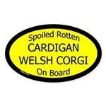 Spoiled Cardigan Welsh Corgi Oval Sticker