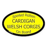 Spoiled Cardigan Welsh Corgis Oval Sticker
