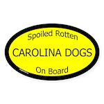 Spoiled Carolina Dogs On Board Oval Sticker