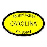 Spoiled Carolina On Board Oval Sticker