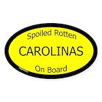 Spoiled Carolinas On Board Oval Sticker