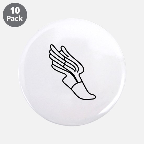 "Track Logo 3.5"" Button (10 pack)"
