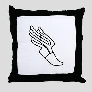 Track Logo Throw Pillow